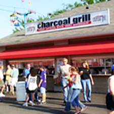 Charcoal Grill at Summerfest Milwaukee