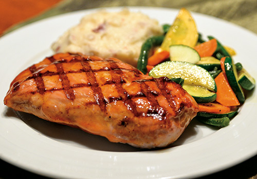 Bourbon Glazed Pork Steak